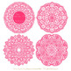 Anna Lace Round Doilies in Hot Pink