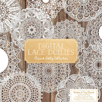 Anna Lace Round Doilies in White