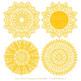 Anna Lace Yellow Doily Vectors - Doily Clipart Images, Digital Doilies