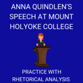 Anna Quindlen's Address at Mount Holyoke College— Practice