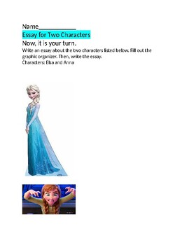 Anna and Elsa Character Traits Essay/NJSLA