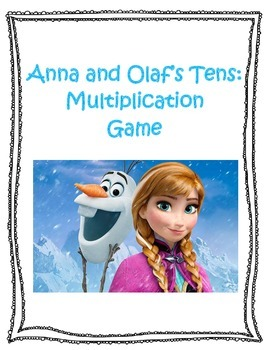 Anna and Olaf's Ten (10) Multiplication Game