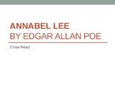 Annabel Lee Close Read PowerPoint