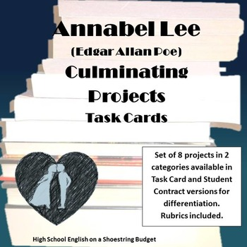 Annabel Lee Culminating Projects Task Cards (E.A. Poe)