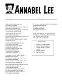 Annabel Lee- Edgar Allan Poe Teaching Packet