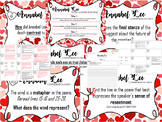 Annabel Lee Poem Task Cards and Short Answer Writing