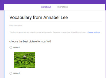 Annabel Lee Vocabulary