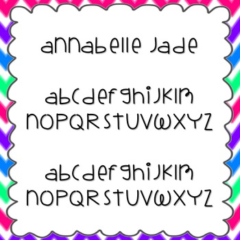 Annabelle Jade Font {personal and commercial use; no license needed}