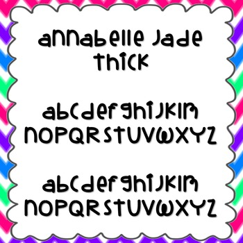 Annabelle Jade Thick Font {personal and commercial use; no license needed}