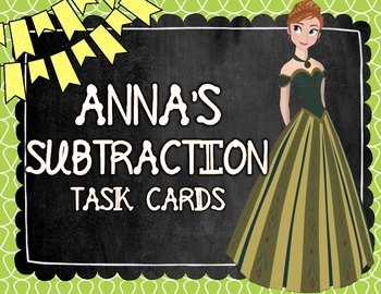 Anna's Subtraction Task Cards