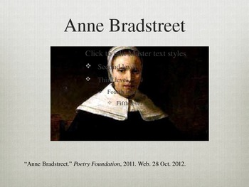 Anne Bradstreet Introduction PowerPoint