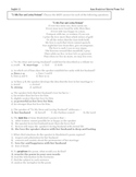 Anne Bradstreet Poetry Multiple Choice Test with Key