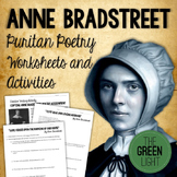 Anne Bradstreet Puritan Poetry Worksheets and Activities