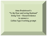 "Anne Bradstreet "" To My Dear and Loving Husband"" Graphic O"