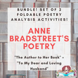 Anne Bradstreet set of 2 foldable activities for poetry analysis