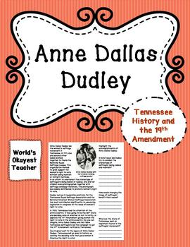 Anne Dallas Dudley: 19th Amendment and Tennessee