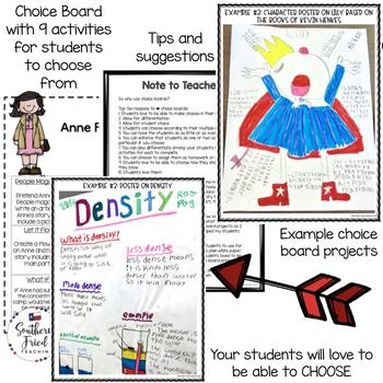 Anne Frank Choice Board