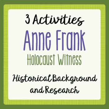 Research paper of anne frank