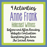 Anne Frank Activities, Before and After Reading, The Secret Annex and more