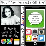 Anne Frank Activity Cards Cell Phone Activity