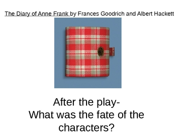Anne Frank After-Reading Powerpoint