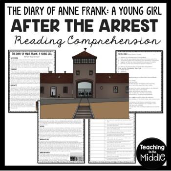Anne Frank: After the Arrest Reading Comprehension Workshe