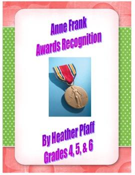Anne Frank Awards Recognition