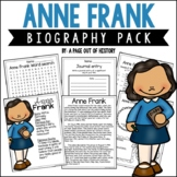 Anne Frank Biography Pack (Notable Women)