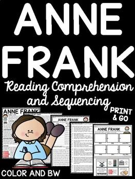 Anne Frank Biography Reading Comprehension Worksheet and ...
