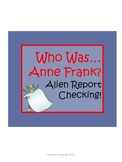 """Anne Frank Biography by Abramson """"Who Was...?"""" Comprehension Worksheets"""