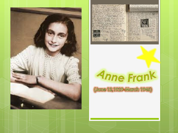 Anne Frank- Biography; graphic organizer, video clip, form