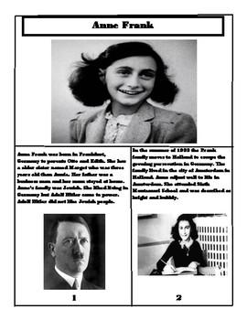 Anne Frank Book by Crazy4Education | Teachers Pay Teachers