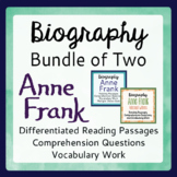 Anne Frank Bundle for Classroom Differentiation Informational Texts & More
