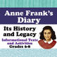 Anne Frank Biography Resource, Choice Board, The Diary's Legacy - Bundle of 3