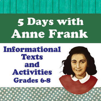 ANNE FRANK Biography Resources BUNDLE of 3 PRINT and DIGITAL LEARNING