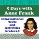 Anne Frank Biography Resource, Choice Board, The Diary's L
