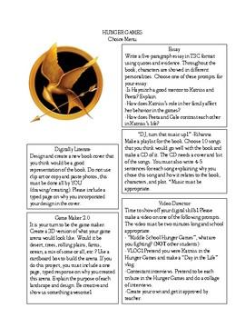 Hunger Games Choice Menu