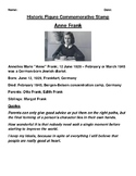 Anne Frank Commemorative Postage Stamp Activity