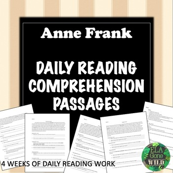 Anne Frank Daily Bell Ringers Reading Practice