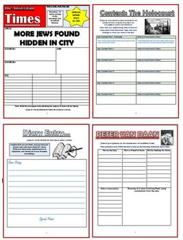 Anne Frank Comprehension Activities Booklet!