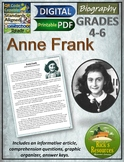 Anne Frank Biography with Reading Comprehension Activities