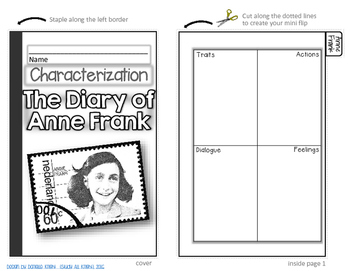 ANNE FRANK, DIARY OF A YOUNG GIRL: INTERACTIVE CHARACTERIZATION MINI FLIP