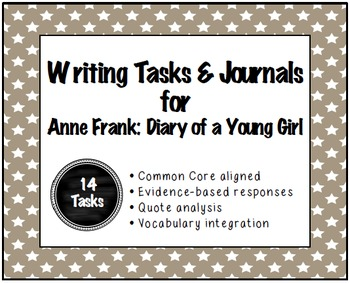 Anne Frank : Writing Tasks and Journals