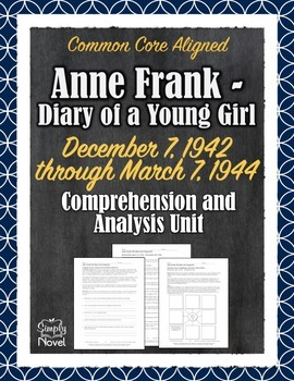 Anne Frank - Diary of a Young Girl - 1942 - 1944 Questions, Analysis, Quizzes