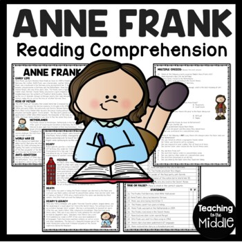 Anne Frank: Diary of a Young Girl Background Reading Compr