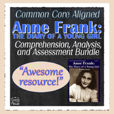Anne Frank Diary of a Young Girl Novel Teaching PACKET | DISTANCE LEARNING