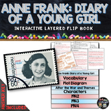 Anne Frank, Diary of a Young Girl Novel Study Literature Guide Flip Book