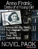 ANNE FRANK DIARY OF A YOUNG GIRL NOVEL STUDY LITERATURE GUIDE, QUIZZES, TEST