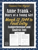 Anne Frank - Diary of a Young Girl May 1944 - End Questions, Analysis, Quizzes
