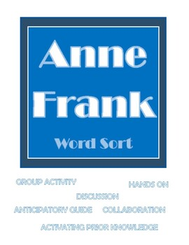 Anne Frank , Evidence, Sort, Group Work, Analysis, Character, Support, Collab